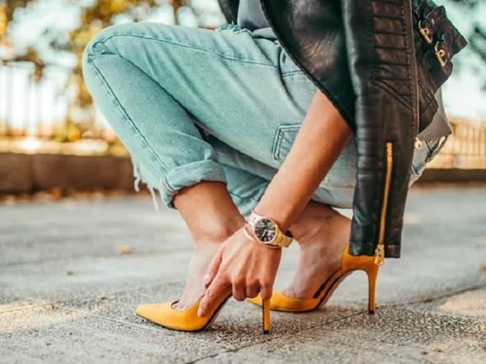 کفش پاشنه بلند و کمردرد